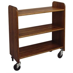 Catskill Craftsmen Library Book Truck in Walnut Stained Oak