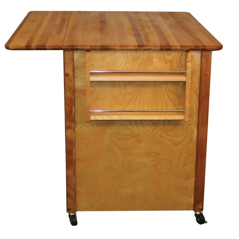 Catskill Craftsmen Butcher Block Drop Leaf WorkCenter PLUS