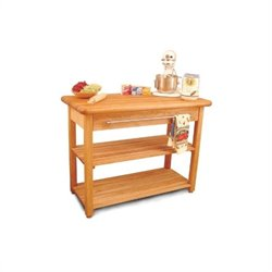 Catskill French Country Butcher Block Harvest Work Table in Natural