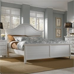 Broyhill Mirren Harbor Arched Panel Bed in White