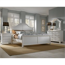 Broyhill Mirren Harbor Arched Panel Bed Bedroom Set in White