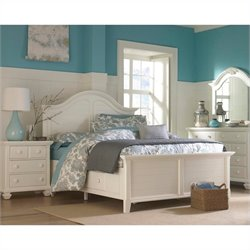 Broyhill Mirren Harbor Panel Storage Bed Bedroom Set in White