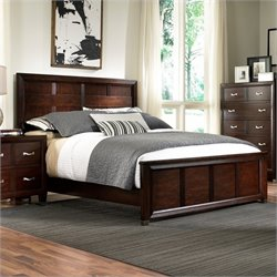 Broyhill Eastlake 2 Panel Bed in Warm Brown Cherry