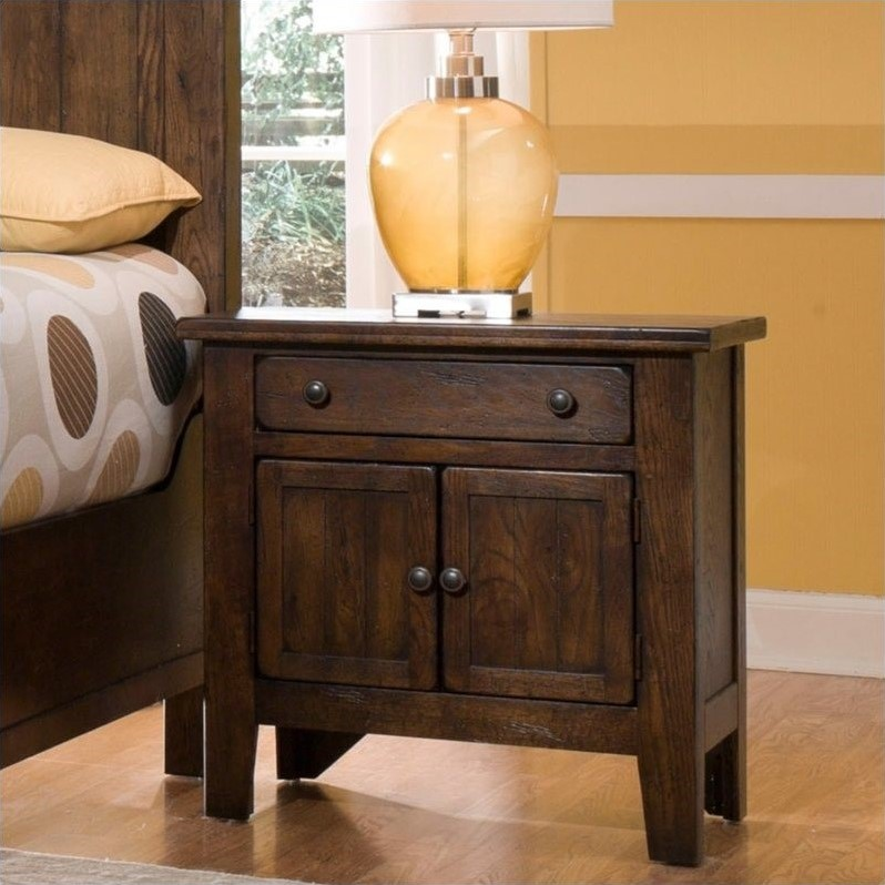 Broyhill Attic Heirlooms Vintage 1 Drawer Nightstand 439x 93x