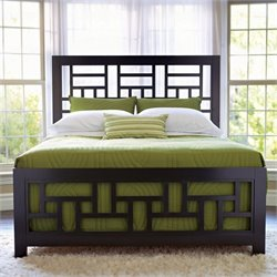 Broyhill Perspectives Lattice Bed in Graphite Finish