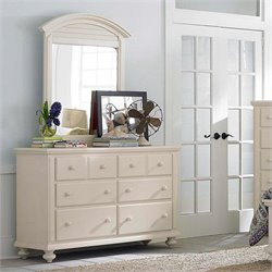 Broyhill Seabrooke Arched Dresser Mirror in White
