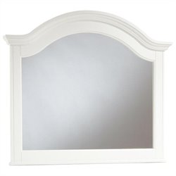 Broyhill Hayden Place Arched Dresser Mirror in White