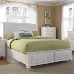Broyhill Hayden Place Sleigh Storage Bed in White