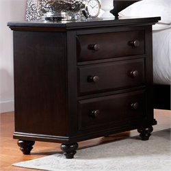 Broyhill Farnsworth Nightstand in Inky-black Stain
