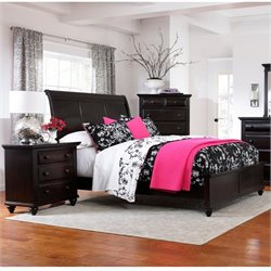 Broyhill Farnsworth Sleigh Bed  Bedroom Set in Inky Black Stain