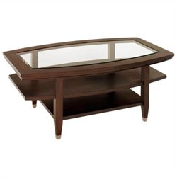Broyhill Northern Lights Oval Cocktail Table in Dark Walnut Stain