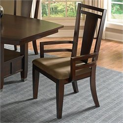 Broyhill Northern Lights Arm Dining Chair in Dark Walnut Stain