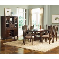 Broyhill Northern Lights  Dining Table Set in Dark Walnut