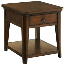 Broyhill Estes Park Drawer End Table in Artisan Oak
