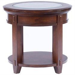 Broyhill Vantana Round End Table in Golden Brown