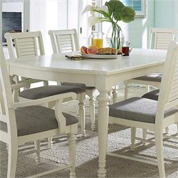 Broyhill Seabrooke Leg Dining Table in Creamy White