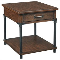 Broyhill Saluda Drawer End Table in Warm Oak