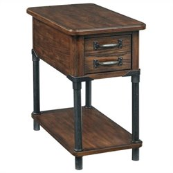 Broyhill Saluda Accent Table in Warm Oak