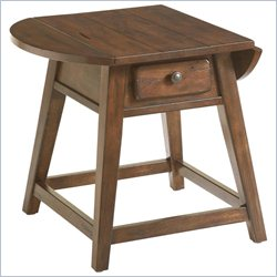 Broyhill Attic Heirlooms Splay Leg End Table in Oak