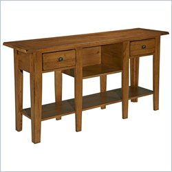 Broyhill Attic Heirlooms Sofa Table in Oak with 2 Drawers