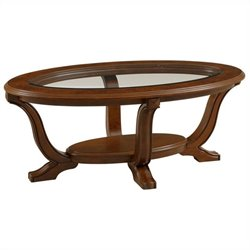 Broyhill Lana Oval Cocktail Table in Cherry