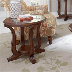 Broyhill Lana Round End Table in Cherry