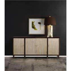 Hooker Melange Manhattan Console Table in Dark Wood