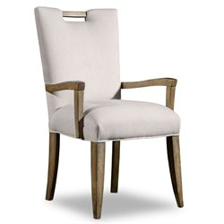 Hooker Melange Barrett Upholstered Arm Chair in Medium Wood