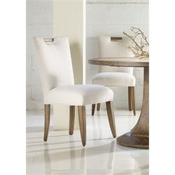 Hooker Melange Barrett Upholstered Side Chair in Medium Wood