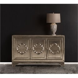 Hooker Melange City Lights Console Table in Silver