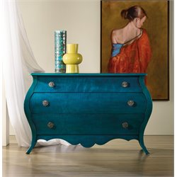 Hooker Melange Nina Bombe 3 Drawer Accent Chest in Blue