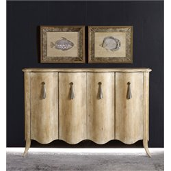 Hooker Melange Draped Sideboard in Light Wood