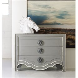 Hooker Melange Roselle 3 Drawer Accent Chest in Gray