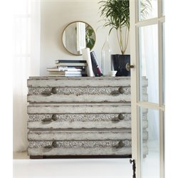 Hooker Melange Norah 3 Drawer Accent Chest in Gray