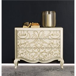 Hooker Melange Graciela Handpainted 3 Drawer Accent Chest in Cream