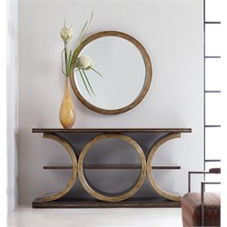 Hooker Melange Presidio 1 Shelf Console Table with Mirror