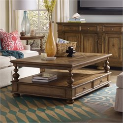 Hooker Sanctuary Coffee Table in Medium Wood