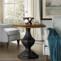 Hooker Sanctuary Round Pedestal Table in Black