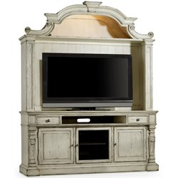Hooker Sanctuary 2 Piece Entertainment Center in Chalky White