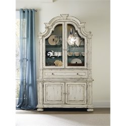 Hooker Sanctuary China Cabinet in Chalky White
