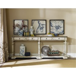 Hooker Sanctuary Hall Console Table in Chalky White