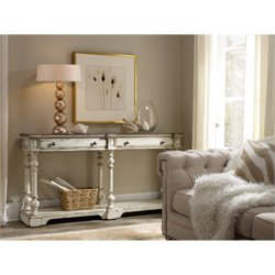 Hooker Sanctuary Thin Console Table in Chalky White