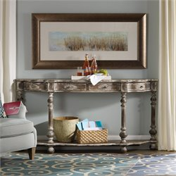 Hooker Sanctuary Console Table in Medium Wood