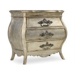 Hooker Sanctuary 3 Drawer Nightstand in Silver