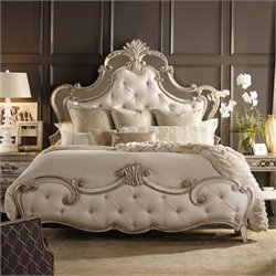 Hooker Sanctuary Upholstered Bed in Silver