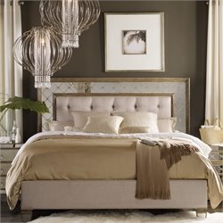 Hooker Sanctuary Mirrored Upholstered Bed