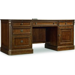 Hooker Brookhaven Computer Credenza in Cherry