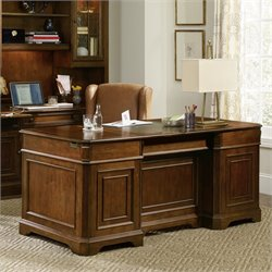 Hooker Brookhaven Executive Desk in Cherry
