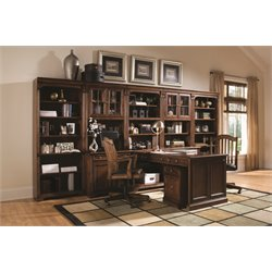 Hooker Furniture Brookhaven Home Office Unit in Clear Cherry