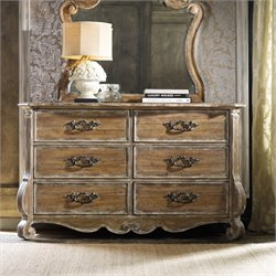 Hooker Chatelet 6 Drawer Dresser in Caramel Froth